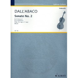Dall'Abaco, Joseph Marie Clemens F.: Sonate F-Dur Nr.2 : für 2 Violoncelli Spielpartitur