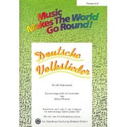 Deutsche Volkslieder : für flexibles Ensemble Posaune in B