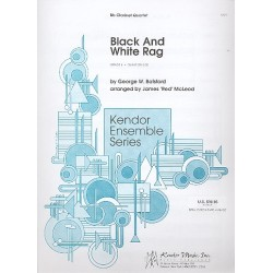 Botsford, George: Black and White Rag : for 4 clarinets score and parts