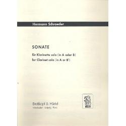 Schroeder, Hermann: SONATE : FUER KLARINETTE SOLO (A/B)
