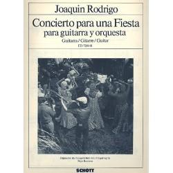 Rodrigo, Joaquin: Concierto para una fiesta : para guitarra y orquesta Gitarrenstimme