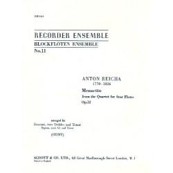 Reicha, Anton (Antoine) Joseph: Menuetto from the quartet for 4 flutes op.12 : für 4 Flöten (SAAT)
