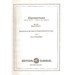 Zander, Hans: Zigeunertanz : für Klavier (Orgel, Akkordeon)