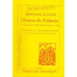 Lattes, Arnoldo: Sones de palacio für Trompete in C (B) und Zupforchester Partitur