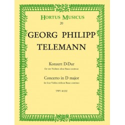 Telemann, Georg Philipp: Konzert : f├╝r 4 Violinen ohne Bc Partitur und Stimmen