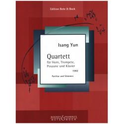 Yun, Isang: Quartett : für Horn, Trompete, Posaune und Klavier