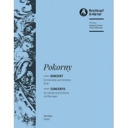 Pokorny, Franz Xaver: Konzert B-Dur : f├╝r Klarinette und Orchester Partitur