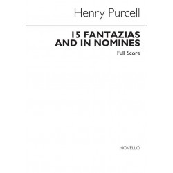 Purcell, Henry: FANTAZIAS AND IN NOMINES : FOR 4-7 VOICES, SCORE