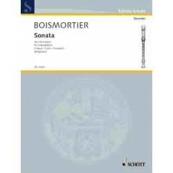 Boismortier, Joseph Bodin de: Sonate F-Dur nach op.7,1 : für 3 Altblockflöten