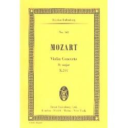 Mozart, Wolfgang Amadeus: Konzert B-Dur KV207 für Violine und Orchester Studienpartitur