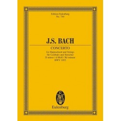 Bach, Johann Sebastian: Konzert d-Moll BWV1052 : f├╝r Cembalo und Orchester Studienpartitur