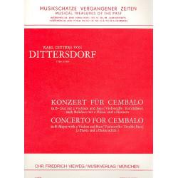 Ditters von Dittersdorf, Karl: Konzert B-Dur : für Cembalo, 2 Violinen und Baß (2 Flöten, 2 Hörner ad lib.), Partitur