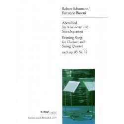 Schumann, Robert: Abendlied op.85,12 für Klarinette und Streichquartett Partitur und Stimmen