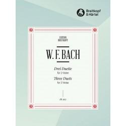 Bach, Wilhelm Friedemann: 3 Duette : für 2 Violen Spielpartitur