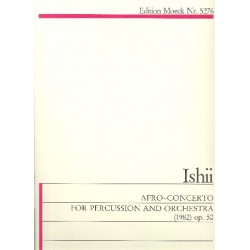 Ishii, Maki: Afro Concerto op.50 : for percussion and orchestra study score
