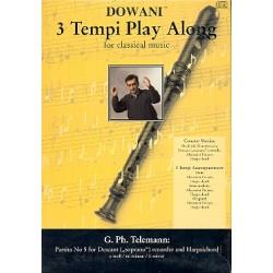 Telemann, Georg Philipp: Partita e-Moll Nr.5 (+CD) : für Sopranblockflöte und Cembalo