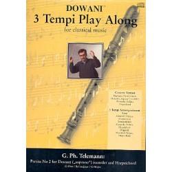 Telemann, Georg Philipp: Partita G-Dur Nr.2 (+CD) : für Sopranblockflöte und Cembalo