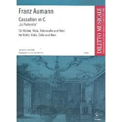 Aumann, Franz Joseph: Cassation C-Dur : fuer violine, viola, f├╝r Violine, Viola, Violoncello und Horn Stimmen