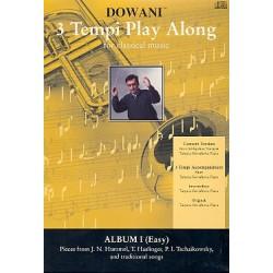 3 Tempi playalong 2 CD's: Album 1 leichte Konzertversion f├╝r Trompete und Klavier