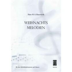 Weihnachtsmelodien : für 3 Melodieinstrumente und Gitarre Stimmen