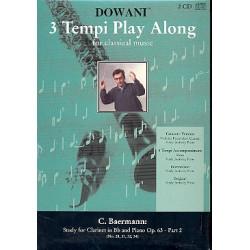 Baermann, Carl: Etüden op.63 (+CD) : für Klarinette und Klavier