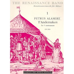 Anonymus: T'andernaken : basse dance : for 5 instruments ATTBB score and 45 parts