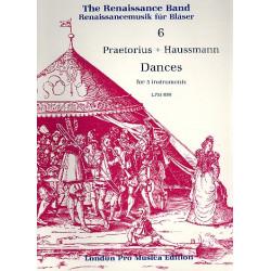 Praetorius, Michael: Tänze : für 5 Instrumente (SATTB) Partitur Haussmann / Praetorius, Komponisten