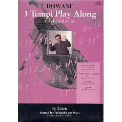 Cirri, Giovanni Battista: 3 tempi Playalong CD Sonata no.1 d major for violoncello and piano original u. klavierbegl. in 3 tempi