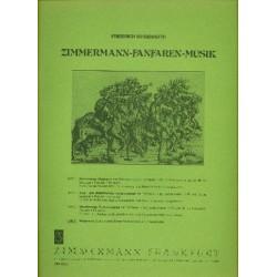 Deisenroth, Friedrich: Fanfaren-Musik Band 4 : Burgmusik Suite in 3 Sätzen für erweiterten Fanfarenchor Partitur