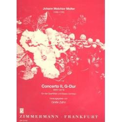 Molter, Johann Melchior: Konzert G-Dur Nr.2 MWV8,19 : f├╝r 4 Fl├Âten und Bc Partitur und Stimmen