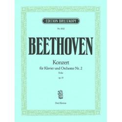 Beethoven, Ludwig van: Konzert Nr. 2 B-Dur op. 19 für Klavier und Orchester Klavierauszug
