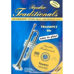 Popular Traditionals (+CD) : for trumpet