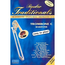 Popular Traditionals (+CD) : for trombone / tuba in C