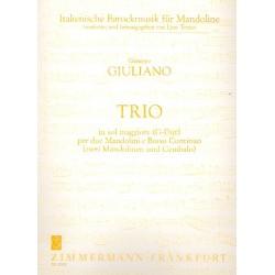 Giuliano, Giuseppe: Trio G-Dur : f├╝r 2 Mandolinen und bc Stimmen