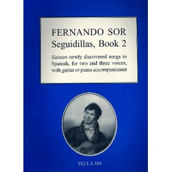 Sor, Fernando: Seguidillas vol.2 : 16 newly discovered songs for 2-3 voices and guitar or piano