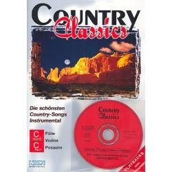 Country Classics (+CD) : f├╝r C-, B und Es-Instrumente C-Stimmen (Bass-+Violin-Schl├╝ssel)