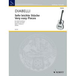 Diabelli, Anton: Sehr leichte Stücke Band 3 : für Gitarre und Klavier