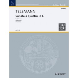 Telemann, Georg Philipp: Sonata à quattro in C : für 4 Violinen Stimmen