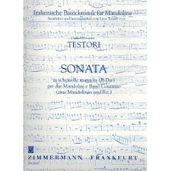 Testori, Carlo Giovanni: Sonate B-Dur : f├╝r 2 Mandolinen und bc