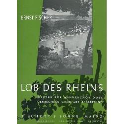Fischer, Ernst: Lob des Rheins für Männerchor und Klavier Klavierpartitur (dt)