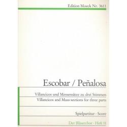 Villancicos und Messensätze zu 3 Stimmen (Durand) Partitur und Stimmen