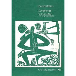 Bollius, Daniel: Symphonia für 3 Blockflöten und Orgel (Cembalo), Partitur