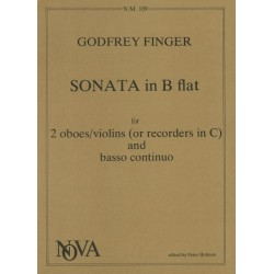 Finger, Gottfried: Sonata B flat major : for 2 oboes and piano parts