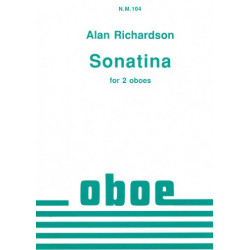 Richardson, Alan: Sonatina : for 2 oboes score