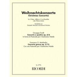 Weihnachtskonzerte : für 2 Flöten, Altflöte und Bassflöte Partitur und Stimmen