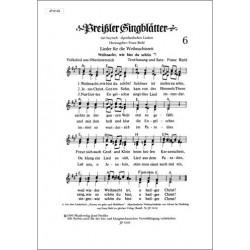 Preissler Singblätter 6 Lieder für die Adventszeit, 3-stimmig gesetzt mit Akkordbezeichnung