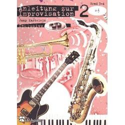 Kastelein, Jaap: Anleitung zur Improvisation Band 2 (+CD) : für B-Instrumente (Violinschlüssel) Grad 3-4