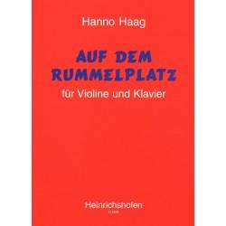 Haag, Hanno: Auf dem Rummelplatz : für Violine und Klavier