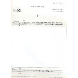 Haydn, Franz Joseph: Sinfonia concertante Hob.I:105 für Oboe, Fagott, Violine, Violoncello und Orchester Fagott solo