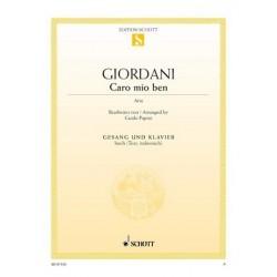 Giordani, Tommaso: Caro mio ben : für hohe Stimme und Klavier